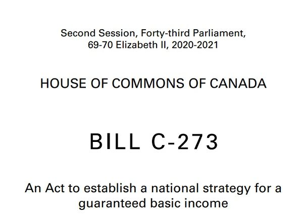 全民基本收入C-273号法案一读通过